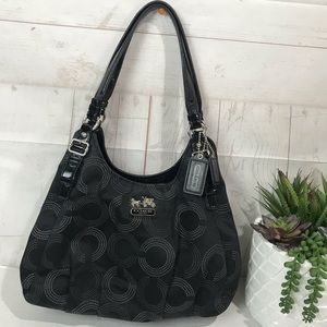 Coach Dotted Madison Op Art Maggie Bag #16505